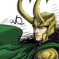 Digital Sketch Warm up 51 - Loki by Vostalgic