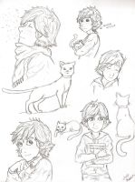 Modern AU Hiccup and Toothless lazy sketches 2 by Laven96