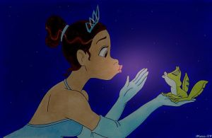 Disney princess and the frog by ChibiThekla