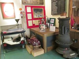 Pedal Cars next to Railroad Stove. by hoestler