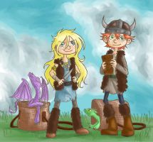 HtTYD-The Foursome by Cloudghost