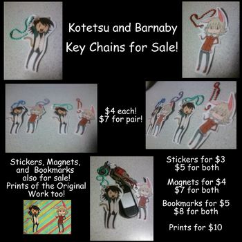 KOTETSU AND BARNABY KEYCHAINS FO SALEEEEEEEEEEEEEE by awesomeyuan
