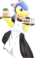 Maid Typhlosion by Darkanine