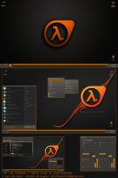 Half Life Windows 7 theme+extras by poweredbyostx
