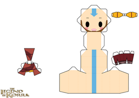 Older Aang by PiercePapercraft