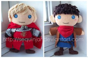 Merlin and Prince Arthur by sequinjar