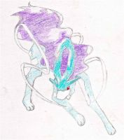 Suicune drawing by Niara-Wolf