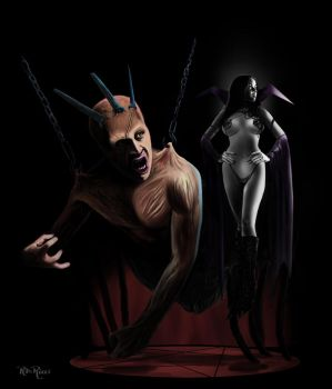 The Vampire and the Aberration by rdricci