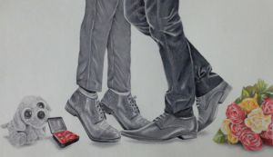Will You... (Klaine Proposal Drawing 6) by Live4ArtInLA