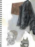 leather jacket still life by artistic-engine