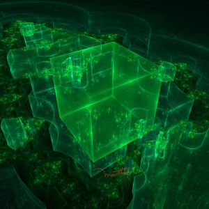 Beautiful Green Cubes by marthig