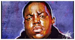 Biggie Hip Hop Painting by kyle-lambert