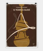 No268 My 12 years a slave minimal movie poster by Chungkong