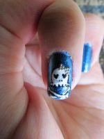 Rocker/Skull Nails Close-up by QueenAliceOfAwesome