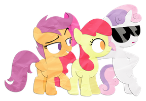 RT Characters: The Cutie Mark Crusaders by Narflarg