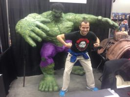 Me with the Hulk by Simpsonsfanatic33
