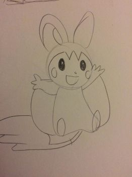 Emolga by The-Silver-Doe394