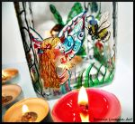 Fairy and Bee Candle Holder by Bonniemarie