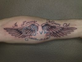 angel wings tattoo by campfens