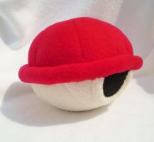 Super Mario - Red Shell Plush by Sparkle-And-Sunshine
