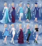 Elsa in 20th century fashion Frozen by BasakTinli