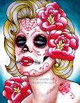 Day of the Dead Marilyn Monroe by misscarissarose