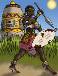 Nothembi the Azenyan Soldier by DaBrandonSphere
