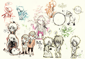 sketching at lessons #1 - the Gazette by KaZe-pOn