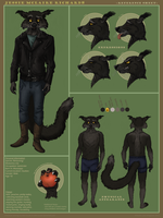 Commission: Jessie Reference Sheet by Teq-Uila
