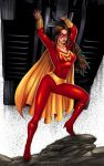 Commission: MIGHTY WOMAN by johnbecaro