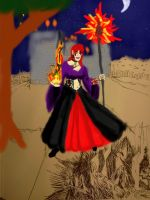 Should't Annoy a Sorceress (WIP digital color3) by dhbraley