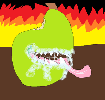 Evil Zombie Pear by MagmaAquariusWolf