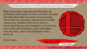 Super Smash Bros Wii U and 3DS Letter Invite!! by AngelShadow3593