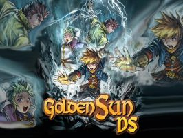 Golden Sun DS Wallpaper by F-F-Manic