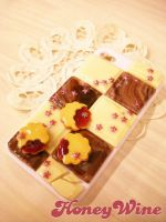 Chocolate and jam cookies on iPhone case by rriee