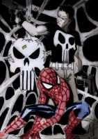 punisher spiderman colored by scarecrowhassan