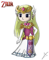 New Toon Princess Zelda by AndsportsART