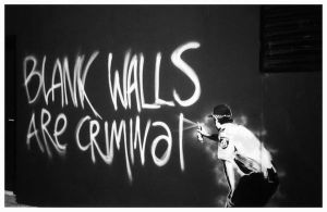 Blank walls are criminal by blackpurpleredpink