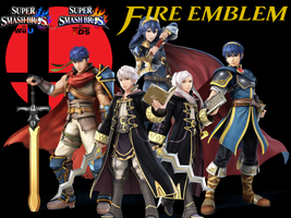 SSB4 - Fire Emblem Gang Wallpaper by MasamuneMarth
