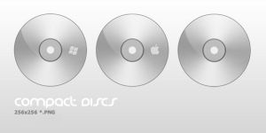 Compact Disc Icons by elusive