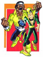Power Man and Iron Fist tooned by KirqArts