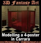 Modelling a 4 Poster -Carrara by 3D-Fantasy-Art