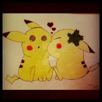 Pikachus by Thecaitybear