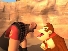 Gmod Yelling Apes by SpongicX