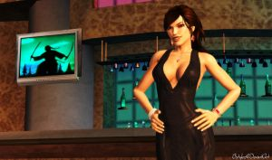 Lara Black Evening Dress by bstylez