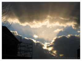 The Sun Behind Those Clouds by rosanakooymans