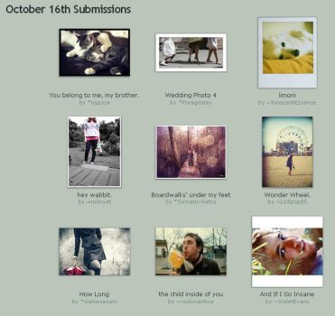 October 16th Submissions by Optimal-Photo