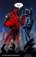 TLIID 169. Hellboy and Weeping Angels by AxelMedellin