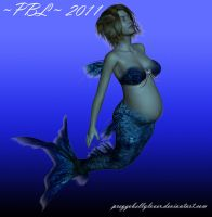Pregnant Mermaid by PreggoBellyLover