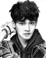 EXO Chen Drawing by CassPoon